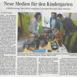 Geräteübergabe Kindergarten