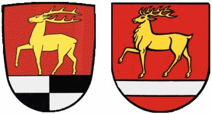 Abb. 13 Wappen des hohenzollerischen Altkreises und des 1973 gebildeten neuen Landkreises Sigmaringen mit österreichischem Bindenschild (Vorlage: Kreisarchiv Sigmaringen)