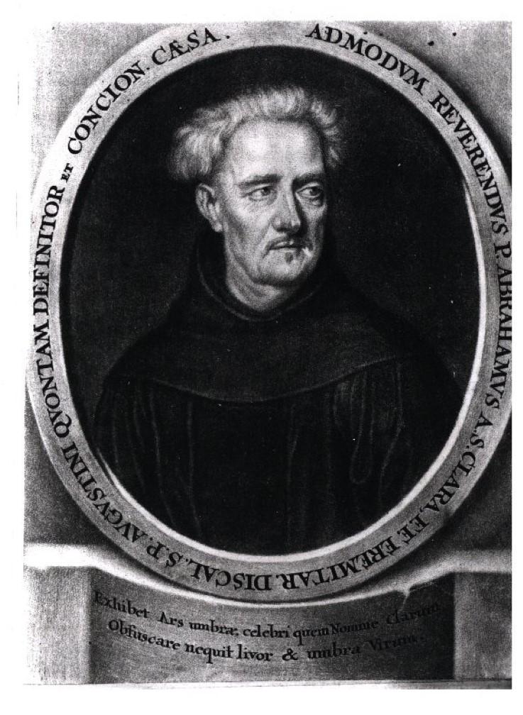 Abb. 14 Abraham a Sancta Clara, Stich Anfang 18. Jahrhundert (Vorlage: Kreisarchiv Sigmaringen)
