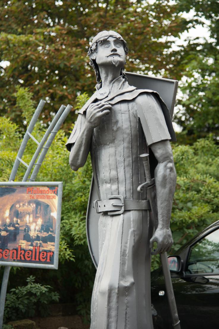 Denkmal von Graf Rudolf von Pfullendorf, gefertigt vom Kunstschmied Peter Klink (Vorlage: Stadtverwaltung Pfullendorf)