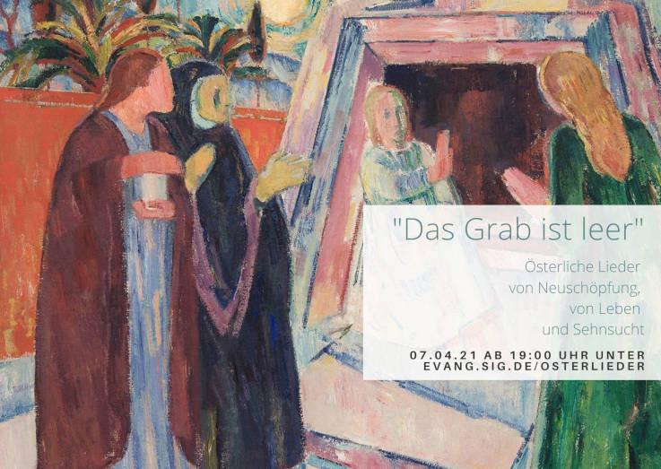 Karl Caspar: Drei Frauen am Grabe, Öl auf Leinwand, 1921 (Kunstsammlung des Landkreises Sigmaringen Inv.-Nr. 184)