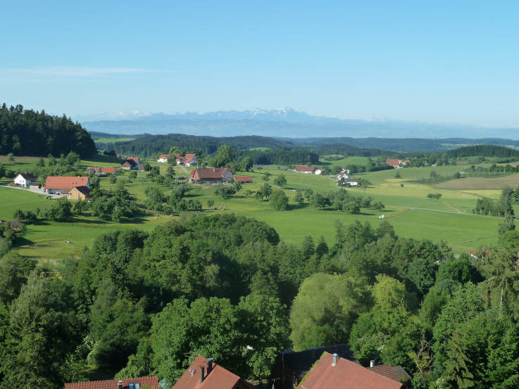 Jungmoränenlandschaft südlich von Bodnegg (Vorlage: Andreas Schwab)