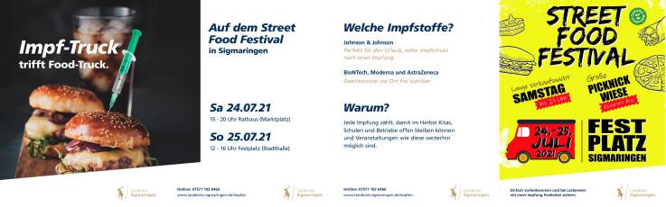 Food Festival Impfkampagne