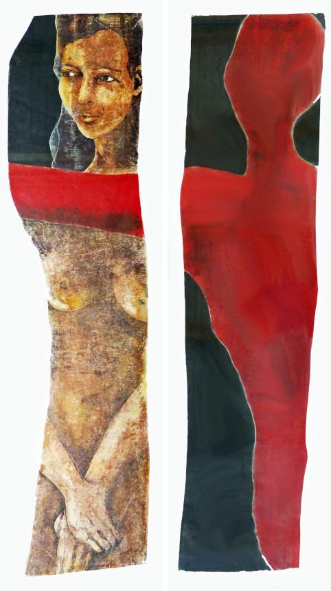 Peter Weydemann: Eurydike, Holzdruck, 2008 (Vorlage: Kreisgalerie Schloss Meßkirch)